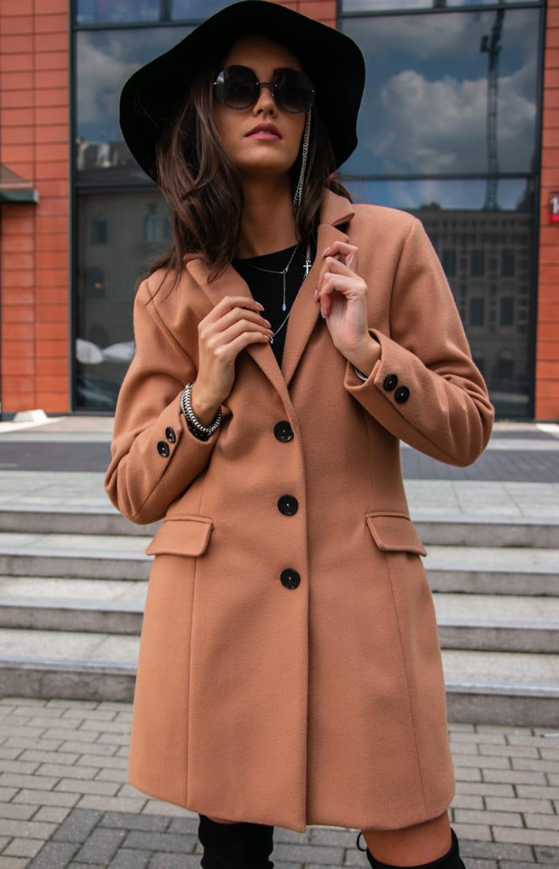 PŁASZCZ BEZ RĘKAWÓW JAK w Płaszcze damskie Modne płaszcze